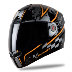 Steelbird Air Racer Matt Black with Orange