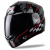 Steelbird Air Racer Glossy Black with Red