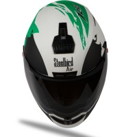 Steelbird Air Beast Matt White With Green