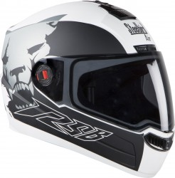 Steelbird Air Beast Glossy White with Grey