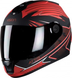 Steelbird HI-GN Men Vision Decal Attis Matt Black with Red