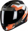 Steelbird HI-GN Men Vision Decal Hunk Matt Black/Orange