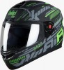 Steelbird Air Speed Glossy Black with Green