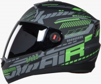 Steelbird Air Speed Matt Black With Green