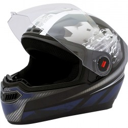 Steelbird Air Storm Glossy Black with Blue