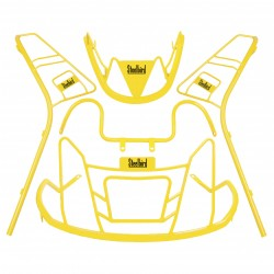 STEELBIRD COLOUR COATED GUARD KIT FOR ACTIVA 5G-YELLOW