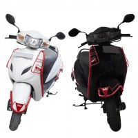 STEELBIRD COLOUR COATED GUARD KIT FOR ACTIVA 5G-RED