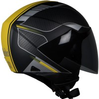 SB-33 EVE DIVINE MAT BLACK+YELLOW 580MM PL.VISOR