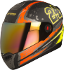 Steelbird Air Rage Glossy Black with Red&Yellow