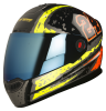 Steelbird Air Rage Glossy Black with Yellow&Red