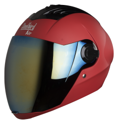 SBA-2 MAT SPORTS RED ( Fitted With Clear Visor Extra Gold Chrome Visor Free)
