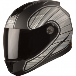 SBH-11 Vision Rays Black With Grey ( Fitted With Clear Visor Extra Smoke Visor Free)