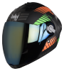 SBA-2 Mat Robot Orange with Green ( Fitted With Clear Visor Extra Gold Chrome Visor Free)