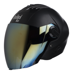 SBA-3 DASHING BLACK ( Fitted With Clear Visor Extra Gold Chrome Visor Free)