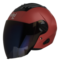 SBA-3 DASHING RED ( Fitted With Clear Visor Extra Blue Chrome Visor Free)