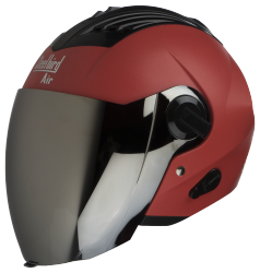 SBA-3 DASHING RED ( Fitted With Clear Visor Extra Silver Chrome Visor Free)