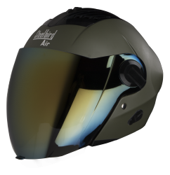 SBA-3 MAT BATTLE GREEN( Fitted With Clear Visor  Extra Gold Chrome Visor Free)