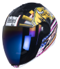 SBA-2 Horn Matt Black with Yellow ( Fitted With Clear Visor  Extra Blue Chrome Visor Free)