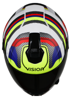 SBH-11 Vision Groove Mat White With Neon Yellow