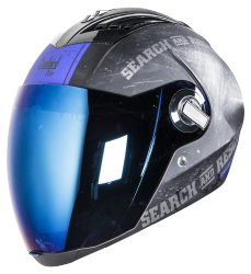 SBA-2 Search & Rescue  Mat Black  Blue  with Blue Visor