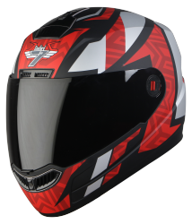 SBA-1 Cesar Mat Black With Dark Red ( Fitted With Clear Visor  Extra Smoke Visor Free)