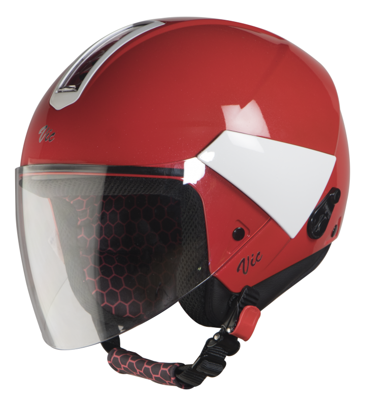 SBH-5 Vic Two Tone Glossy Sports Red With White