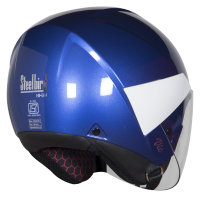 SBH-5 Vic Two Tone Glossy Y. Blue With White
