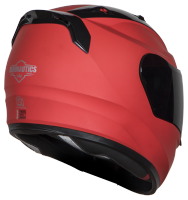 SA-1 Aeronautics Mat Sports Red ( Fitted With Clear Visor Extra Gold Chrome Visor Free)