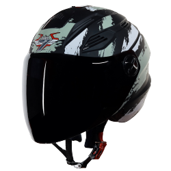 SBA-6 Stroke Mat Black With Gold (Fitted With Clear Visor Extra Smoke Visor Free)