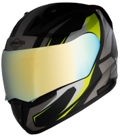 SA-1 Aviate Mat Black With Grey(Fitted With Clear Visor Extra Gold Chrome Visor Free)