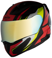 SA-1 Aviate Mat Black With Red (Fitted With Clear Visor Extra Gold Chrome Visor Free)