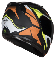 SA-1 Aviate Mat Black With Orange (Fitted With Clear Visor Extra Gold Chrome Visor Free)