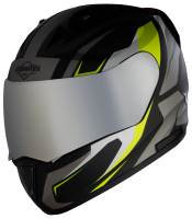 SA-1 Aviate Mat Black With Grey (Fitted With Clear Visor Extra Silver Chrome Visor Free)
