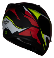 SA-1 Aviate Mat Black With Red (Fitted With Clear Visor Extra Silver Chrome Visor Free)