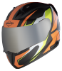 SA-1 Aviate Mat Black With Orange (Fitted With Clear Visor Extra Silver Chrome Visor Free)