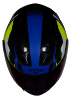 SA-1 Aviate Mat Black With Blue (Fitted With Clear Visor Extra Rainbow Chrome Visor Free)