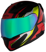 SA-1 Aviate Mat Black With Red (Fitted With Clear Visor Extra Rainbow Chrome Visor Free)