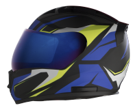 SA-1 Aviate Mat Black With Blue (Fitted With Clear Visor Extra Blue Chrome Visor Free)