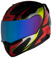SA-1 Aviate Mat Black With Red (Fitted With Clear Visor Extra Blue Chrome Visor Free)