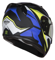 SA-1 Aviate Mat Black With Blue (Fitted With Clear Visor Extra Blue Night Vision Visor Free)