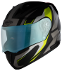 SA-1 Aviate Mat Black With Grey(Fitted With Clear Visor Extra Blue Night Vision Visor Free)