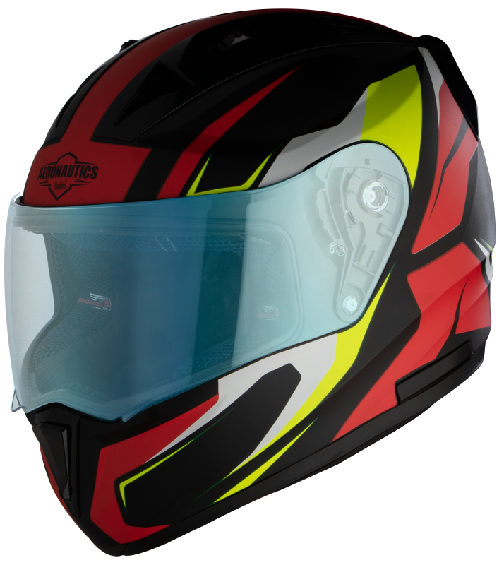 SA-1 Aviate Mat Black With Red (Fitted With Clear Visor Extra Blue Night Vision Visor Free)