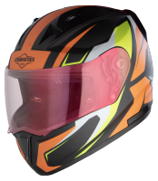 SA-1 Aviate Mat Black With Orange(Fitted With Clear Visor Extra Gold Night Vision Visor Free)