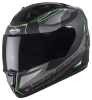 SA-1 RTW Mat Black With Green (Fitted With Clear Visor Extra Smoke Visor Free)
