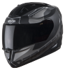 SA-1 RTW Mat Black With White (Fitted With Clear Visor Extra Smoke Visor Free)