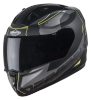 SA-1 RTW Mat Black With Yellow (Fitted With Clear Visor Extra Smoke Free)