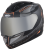 SA-1 RTW Mat Black With Orange (Fitted With Clear Visor Extra Chrome Silver Free)