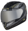 SA-1 RTW Mat Black With Yellow (Fitted With Clear Visor Extra Chrome Silver Free)