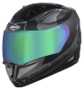 SA-1 RTW Mat Black With White (Fitted With Clear Visor Extra Chrome Rainbow Visor Free)