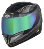 SA-1 RTW Mat Black With Yellow (Fitted With Clear Visor Extra Chrome Rainbow Visor Free)